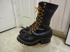 VINTAGE HATHORN LOGGER BOOTS GOOD COND NOT MUCH USED MADE IN USA WON 7 MEN 5 D