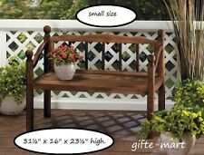 SMALL Rustic outdoor wood flower pot Shelf Planter plant stand doll BENCH statue