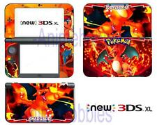 Anime Pokemon Charizard Vinyl Skin Stickers Decals for Nintendo New 3DS XL 2015