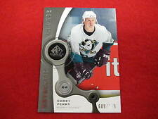 2005 SP Game Used Corey Perry hockey rookie card   Ducks  RC   #ed 609 / 999