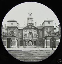 VICTORIAN Glass Magic Lantern Slide THE HORSE GUARDS FROM WHITEHALL C1890 LONDON