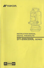New Topcon Digital Theodolite DT-200/200L Series Instruction Manual