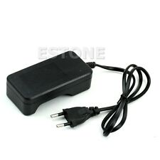 Black Travel Charger For 18650 Rechargeable Li-Ion Battery EU Plug