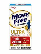 Move Free Ultra Triple Action Joint Supplement with Type II Collagen Hy... , New