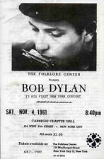 BOB DYLAN REPRO 1961 NEW YORK CARNEGIE HALL 4 NOV CONCERT PROGRAMME . NOT CD DVD