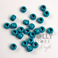 500 PEARL TEAL 9x6mm Pony Beads for crafts hair kandi jewelry