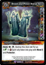 WOW WARCRAFT TCG ANCIENTS CRAFTED RARE : DRUID AND PRIEST STATUE SET X 4