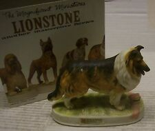 British Rough Collie Dog Mini Decanter w/ Packing by Lionstone Whiskey in 1975