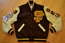 Vintage ST FRANCIS High School GOLDEN KNIGHTS Varsity Lettermans Jacket Size 44