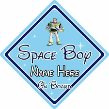 Personalised Disney Space Boy On Board Car Sign – Toy Story Buzz Lightyear