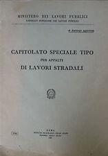 CAPITOLATO SPECIALE TIPO PER APPALTI DI LAVORI STRADALI - 1962