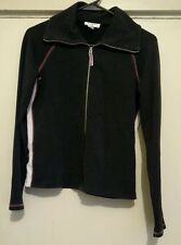 Ann Taylor Loft Petites Black Zippered Sweatshirt Size PM