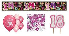 18th BIRTHDAY PARTY PACK DECORATIONS BANNER BALLOONS CANDLE CONFETTI (SE.P.5)