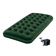 Bestway Inflatable Flocked Camping Airbed Mattress w/ Air Pump - Twin | 12617