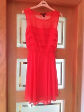 Forever 21 Coral Dress With Ruffle Front Size M - Medium BNWT