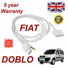 Fiat DOBLO LATEST blue&me 3gs 4 4s iPhone iPod USB AUX audio adapter cable white