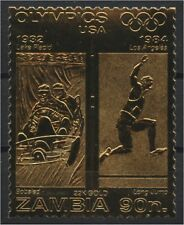 ZAMBIA, GOLD FOIL OLYMPICS, Bobsled and Long Jump Olympic Games, Los Angeles, US