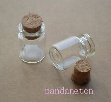 25pcs 5ml Empty Sample Vials Clear Glass Bottles with Corks Jars Small Display