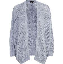 RIVER ISLAND Blue Eyelash Knit Open Front Cardigan, Size 10 (UK)