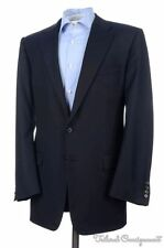 HICKEY FREEMAN Solid Blue Super 130 Wool Mens Blazer Sport Coat Jacket - 42 L