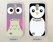 Personalized CUTE PINK OWL PENGUIN Custom Case For Samsung Galaxy S7 S6 Note 7 5
