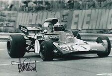 Jackie Stewart Hand Signed Elf Team Tyrrell F1 12x8 Photo 1.