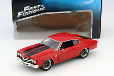 Dom 's CHEVROLET Chevelle SS Fast and Furious Rosso/Nero 1:24 Jada Toys