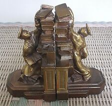 """Nice Pair of 1930's Dodge """"Hold Those Books"""" Bookends - Graduation Gift"""