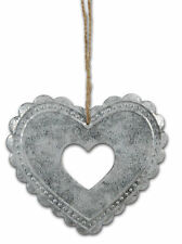 Heart made of Zinc Metal 10x8 NEW Clayre & Eef Shabby chic