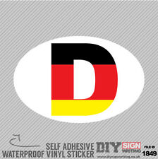 D Deutschland Germany Flag Abroad Self Adhesive Vinyl Sticker Decal Window Car V