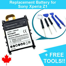 NEW Replacement Battery for Sony Xperia Z1 L39h 3300mAh and FREE Repair Tools