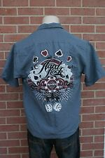 Hard Rock Cafe Mens Shirt Gray PHUKET Size S Button Up