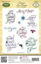 JUSTRITE CLING Rubber Stamps CHRISTMAS INNER THOUGHTS CL-04625 Peace Love Spirit