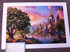 "Thomas Kinkade "" Beauty & the Beast II "" Signed & Numbered Disney Lithograph"