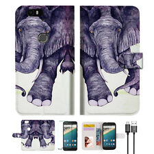 Elephant Wallet Case Cover For Google Nexus 6P-- A007