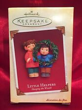 Little Helpers - 2005 Hallmark Ornament - Hanging the Wreath Love Family Friends