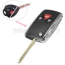3 Buttons Folding Flip Remote Key Fob Case Shell For Toyota Yaris xB tC Matrix