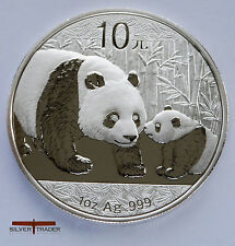 Chinese Panda , 2011  unc: 1 oz Troy ounce Fine Silver Bullion Coin