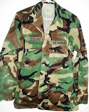 One US MARINE CORPS WOODLAND CAMOUFLAGE COMBAT SHIRT size small regular