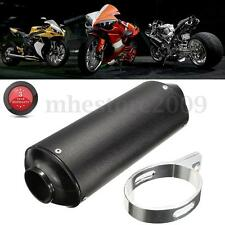Motorcycle Black 38mm Exhaust Muffler Tip w/ Clamp Silencer ATV Dirt Pit Bike