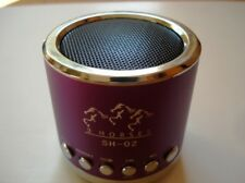 Mini Portable Speaker 3 horses MN 02 with FM (purple)