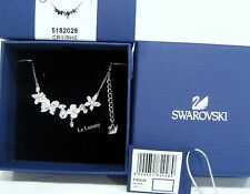 Swarovski Eden Necklace, Flower & Butterfly  Clear Crystal Authentic MIB 5182028