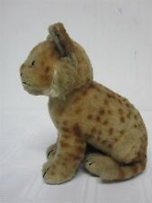 """VINTAGE STEIFF MADE IN US ZONE GERMANY MOHAIR SITTING LEOPARD ~ 7 1/2"""""""