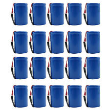 20PCS 4/5 Sub C 1600mAh 1.2V Ni-CD Rechargeable Battery Tabs Blue 22.2x34.32mm