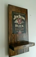 Jim Beam sign plaque  and shelf  wooden fathers day gift mancave shed bar