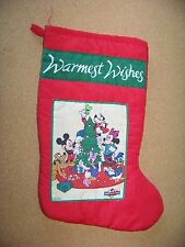 """Warmest Wishes Christmas Stocking Mickey for Kids Disney Minnie Mouse Goofy 13"""""""