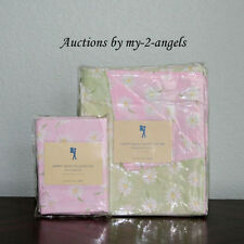 NEW Pottery Barn Kids Pink/Green Happy Daisy Floral Garden Twin Duvet Cover Set