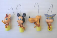 Figurines anciennes de Noel WDP disney vintage ornament Christmas mickey bambi