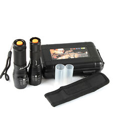 2 Pack 5000lm X800 ShadowHawk Tactical Flashlight LED Military Grade G700 Torch