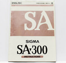 Sigma SA-300 35mm Film SLR Camera Owner's Manual Instructions Guide
